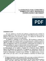La estrategia para combatir la pobreza en Chile