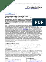 Pressemitteilung vom Berliner Wassertisch vom 7. September 2012