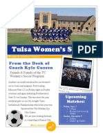 Tulsa Women's Soccer Newsletter Issue 3