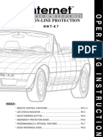 Internet Auto Security ON-LINE PROTECTION #INT-K7 OPERATING INSTRUCTIONS