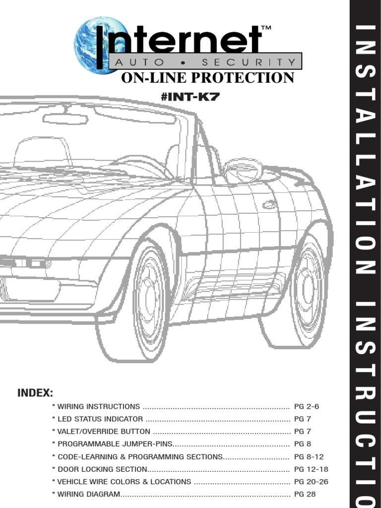 Internet Auto Security On Line Protection Int K7 Install Old Car Wiring Diagrams Automotive