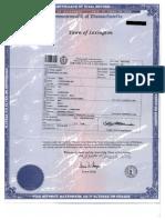 In Jin Moon & Ben Lorentzen Son Auston Birth Certificate