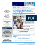 The Eliminate Project - USA 2 Newsletter 9-7-12