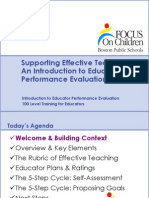 100 - Introduction to Educator Performance Eval