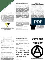 Vote for Nobody Flyer 2