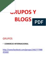 Grupos y Blogs