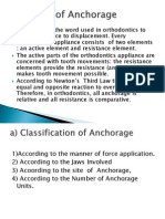 Concepts of Anchorage