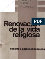 Serer, Vicente Renovacion de La Vida Religiosa