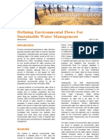 2008 01 Defining Environmental Flows for Sustainable Water Management - Synexe Knowledge Note