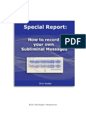 How to Record Your Own Subliminal Messages | Mp3 | Sound
