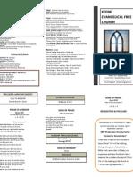 Church Bulletin -September 9