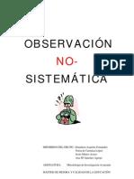 Observacion NoSistematica (Trabajo)