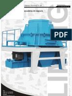 Chancadora  de impacto de eje vertical PCL