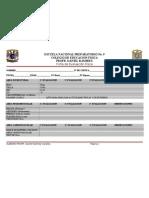 Ficha de Evaluación física  2012 508 marlem