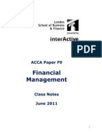 Acca f9 Notes