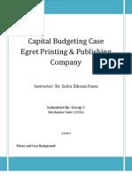 Finance- Egret Printing ( finance case study solution)