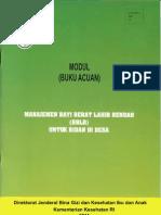 Buku Acuan Manajemen BBLR Untuk Bidan Di Desa