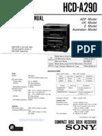 Sony Hcd a290