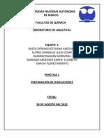 Practica 1. Preparacion de Disoluciones analitica 1