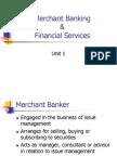 financial services & merchant banking