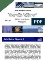 Beacon Power Presentation ESA 6-7-11 FINAL