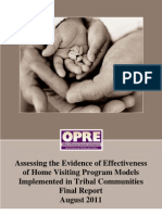 Assessing the Evidence of Effectiveness of Home Visiting Program Models in Tribal Communities, 2011