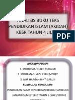 Analisis Buku Teks Pendidikan Islam (Akidah)