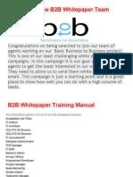 b 2 b Training Manual