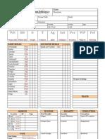 Dark Heresy Character Sheet (Fan Made) - 2 Page