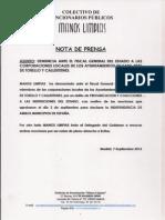 Denuncia Corporacion de Sant Pere Torello y Calldetenes