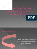 8. Pricing Decisions, Channel Decisions & Promotion Mix