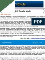 12th Grade Math