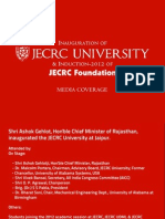 JECRC University Inauguration Media Coverage