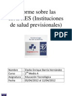 Informe Sobre Las ISAPRES