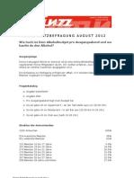 Auswertung Blitzbefragung August 2012