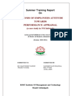 Analysis of Employees Attitude Towards Potential & Performance Appraisal