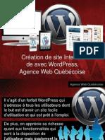 Création de site Internet de avec WordPress- Agence Web Québécoise