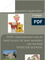 Informatieavond September 2012-2013