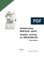 (2012) Cronologia Egiptului Antic. Stadiul Actual Al Cercetarilor [N. Ciobanu]