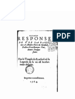 Seconde Réponse de F. de La Baronie a Msr. Pierre de Ronsard 1564