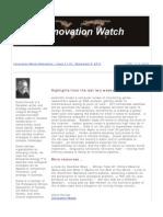Innovation Watch Newsletter 11.18 - September 8, 2012