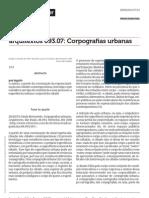 Jaques, Paola Berenstein _ Corpografias Urbanas