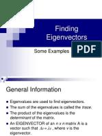 Finding e i Gen Vectors