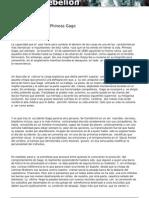 España y el caso de Phineas Gage