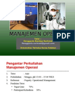 Manajemen Operasi - Chapter I