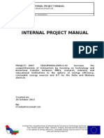 INTERNAL PROJECT MANUAL - IC-Industrieconsult Ltd.
