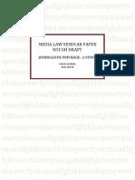 Media Law Seminar Paper Rough Draft