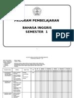 program semester bahasa inggris SD