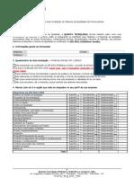 Questionário de Auto-Avaliação do Sistema da Qualidade de Fornecedores