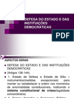Aula DEFESA DO ESTADO E INSTITUIÇÕES